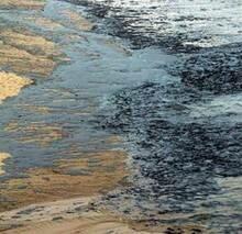 Нефть на океанском берегу