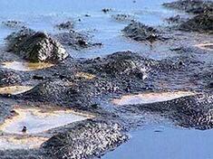 Нефть на берегу